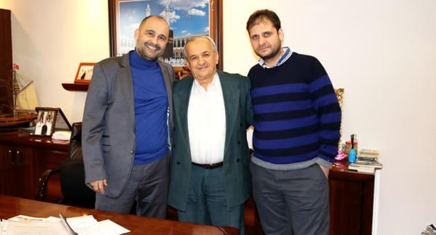 Sağdan; Süleyman Özcan, Mustafa Yaman, Mustafa Özcan