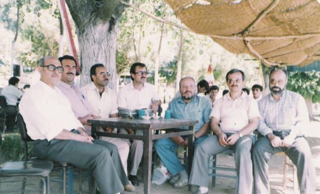 Zeki Ünal, …, Seyfettin Dursun, Mehmet Aşıcı, Hulusi Hatiboğlu, Mustafa Yaman, Ahmet Daş (Ödemiş Bozdağ Gezisi'nden bir hatıra)